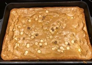 Blonde Brownies with Yellow Pea flour