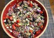 Lentil salad picture